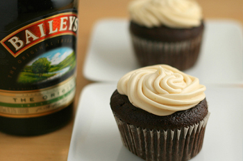 Coffee Cupcakes with Irish Cream Frosting