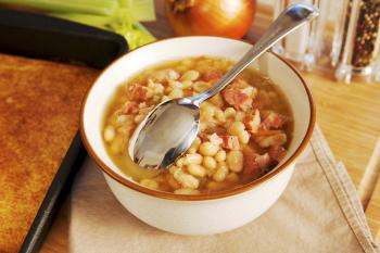 Ham & Bean Soup=